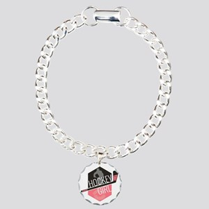hockeygirl copy2 Charm Bracelet, One Charm
