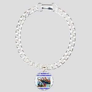ANTI-ESTABLISHMENT TEA P Charm Bracelet, One Charm