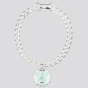 I Wear Teal for Myself Charm Bracelet, One Charm