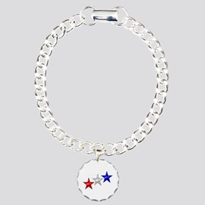Three Shiny Stars Charm Bracelet, One Charm