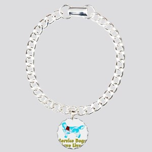 Service Dogs Save Lives Charm Bracelet, One Charm
