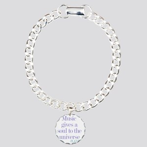 Music gives soul Charm Bracelet, One Charm