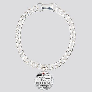 Mental Health Nurse Blac Charm Bracelet, One Charm