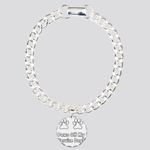 Paws off my service dog! Charm Bracelet, One Charm