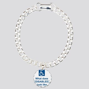 What does disabled look  Charm Bracelet, One Charm