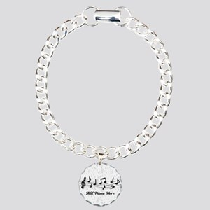 Personalized Musical Notes design Charm Bracelet,
