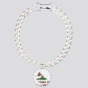 CALIFORNIA FLAG and STATE Bracelet