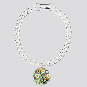 summer tree Charm Bracelet, One Charm