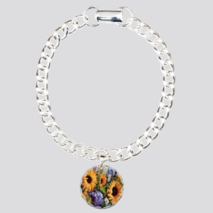 Sunflower Charm Bracelet, One Charm