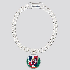 Dominican Republic Coat Of Arms Charm Bracelet, On