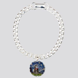 Starry Night / Tiger Cat Charm Bracelet, One Charm