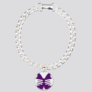 Butterfly Hope Charm Bracelet, One Charm