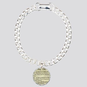 May 19th Charm Bracelet, One Charm