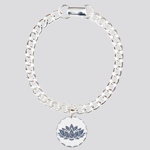 blue lotus Charm Bracelet, One Charm