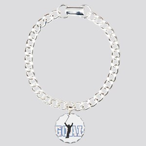 Hockey Goal Design Charm Bracelet, One Charm
