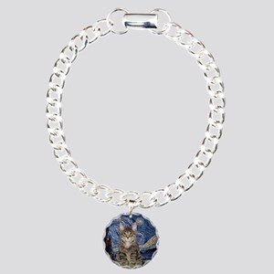 Starry Night & Tiger Cat Charm Bracelet, One Charm