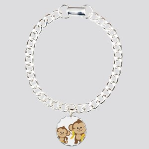 Little Monkeys Charm Bracelet, One Charm