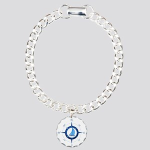 Sailboat And Blue Compass Bracelet