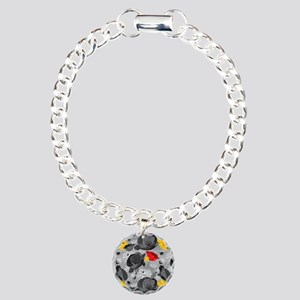 Poppies and Daisies Spot Color Bracelet