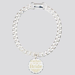 Father of the Bride gold Charm Bracelet, One Charm