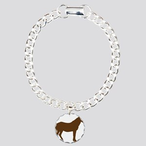 Brown Horse Charm Bracelet, One Charm