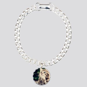Cat Praying Charm Bracelet, One Charm