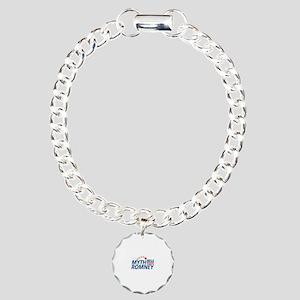 Myth Romney Anti Mitt 2012 Charm Bracelet, One Cha