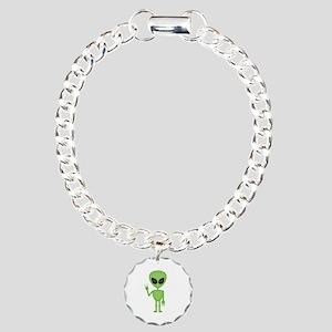 Aliens Rock Charm Bracelet, One Charm
