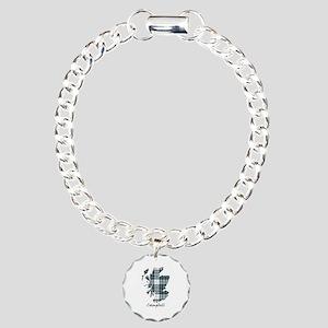 Map-Campbell dress Charm Bracelet, One Charm