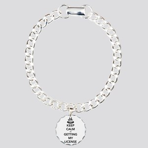 Keep Calm Sweet 16 Charm Bracelet, One Charm