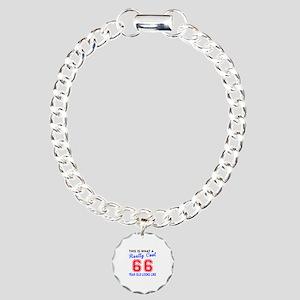 Really Cool 66 Birthday Charm Bracelet, One Charm