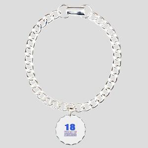 18 Years Of Awesomeness Charm Bracelet, One Charm