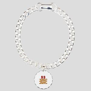 93 Birthday Designs Charm Bracelet, One Charm