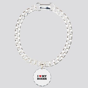 I Heart My Boxer Charm Bracelet, One Charm