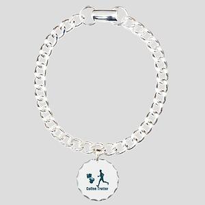 Coffee Trotter Charm Bracelet, One Charm