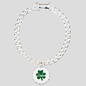 O'Baby Shamrock Charm Bracelet, One Charm