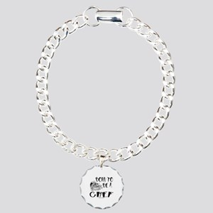 BORN TO BE A CHEF Charm Bracelet, One Charm