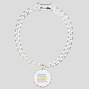 Amazing Daughter Charm Bracelet, One Charm