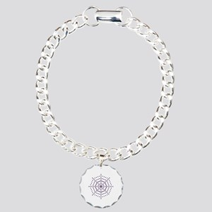 Spider web Charm Bracelet, One Charm