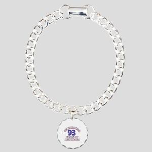 Celebrating 93 Years Charm Bracelet, One Charm