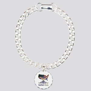 American Scottish Roots Charm Bracelet, One Charm