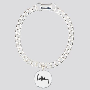 Hillary Clinton Signatur Charm Bracelet, One Charm