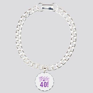 Fabulous 40th Birthday Charm Bracelet, One Charm
