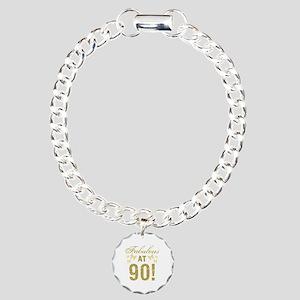 Fabulous 90th Birthday Charm Bracelet, One Charm