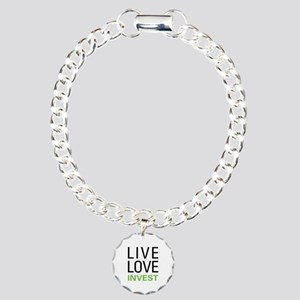 Live Love Invest Charm Bracelet, One Charm