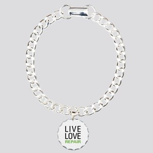Live Love Repair Charm Bracelet, One Charm