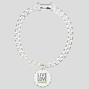 Live Love Fitness Charm Bracelet, One Charm
