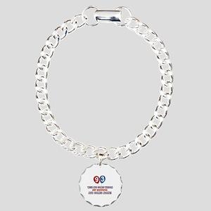 Funny 93 wisdom saying b Charm Bracelet, One Charm