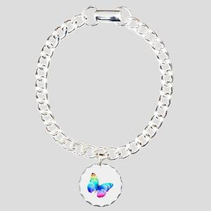 Butterfly Charm Bracelet, One Charm