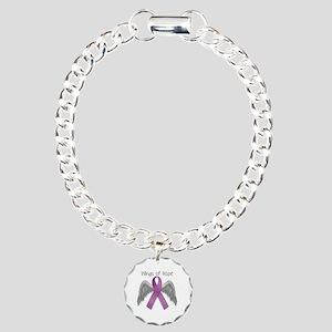 Wings of Hope in Purple Charm Bracelet, One Charm
